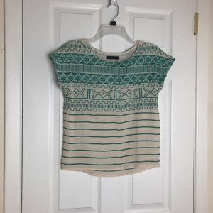 THML Mint Embroidered Crop Top Size XS